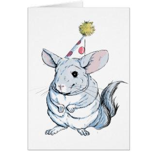 Funny Chinchilla Birthday Card