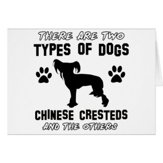 Funny chinese crested designs card