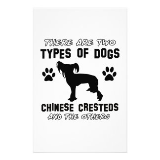 Funny chinese crested designs custom stationery