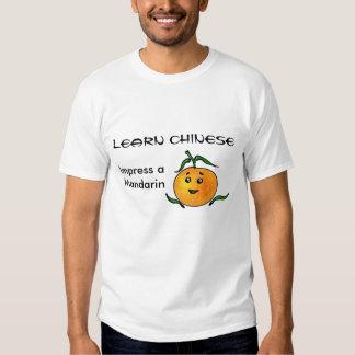 Funny Chinese Mandarin Language and Fruit Tee Shirt