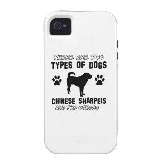 Funny chinese sharpei designs Case-Mate iPhone 4 case