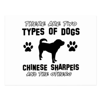 Funny chinese sharpei designs post card
