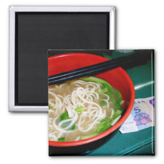 Funny Chinese Take Out Noodle Soup and Money Magnet