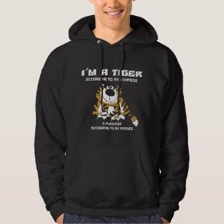 Funny Chinese Zodiac Tiger Black T-Shirt