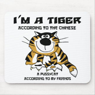 Funny Chinese Zodiac Tiger Gift Mousepads