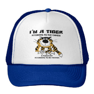 Funny Chinese Zodiac Tiger Gift Trucker Hat