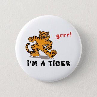 Funny Chinese Zodiac Tiger Pinback Button