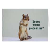 Funny Chipmunk Picture Card