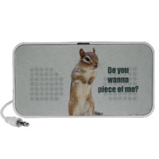 Funny Chipmunk Picture Notebook Speakers
