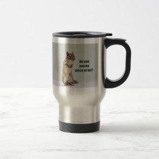 Funny Chipmunk Picture Travel Mug