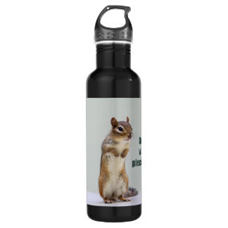 Funny Chipmunk Picture Water Bottle
