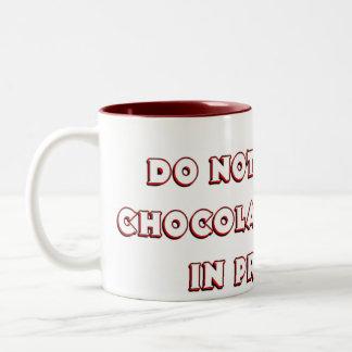 Funny Chocolate Addict Mug