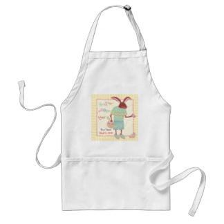 Funny Chocolate Bunny Easter Egg Hunt Adult Apron