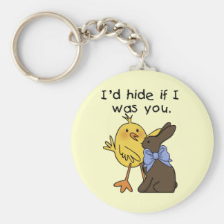 Funny Chocolate Bunny Easter Tshirts and Gifts Keychains