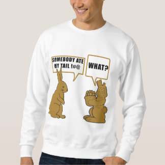 Funny Chocolate Easter Bunny Men's Sweatshirt