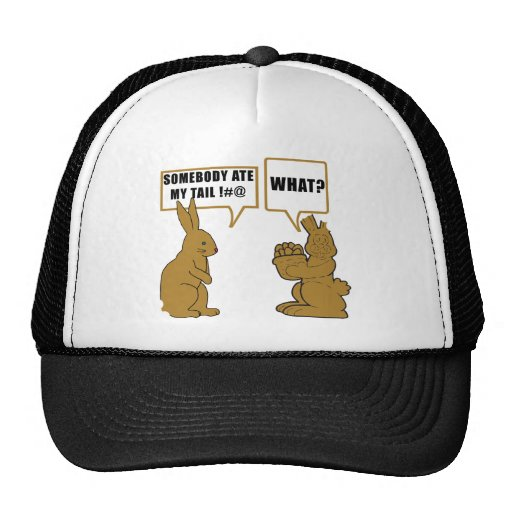 Funny Chocolate Easter Bunny Trucker Hat