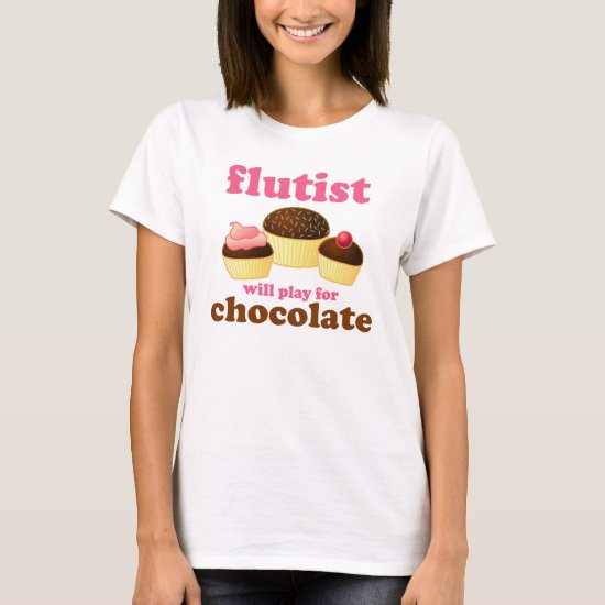 Funny Chocolate Flute T-Shirt