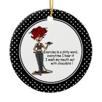 Funny Chocolate Humor Christmas Ornament