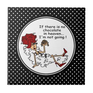 Funny Chocolate in Heaven Keepsake Tiles