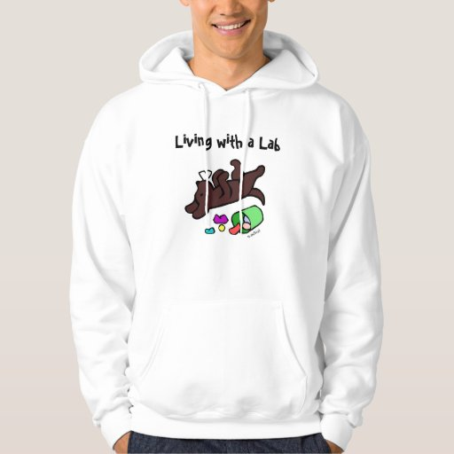 Funny Chocolate Labrador Cartoon Illustration Hoodie