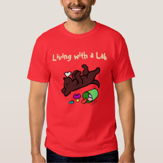 Funny Chocolate Labrador Cartoon Illustration Shirt