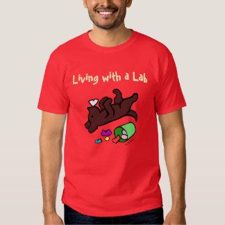 Funny Chocolate Labrador Cartoon Illustration Tee Shirt