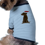 Funny Chocolate Labrador Retriever Christmas Art Doggie Shirt