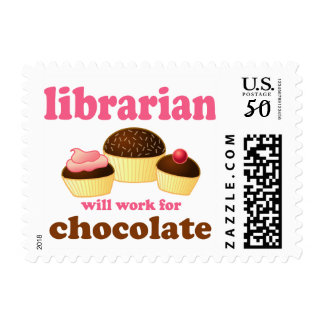 Funny Chocolate Librarian Quote Stamps Gift