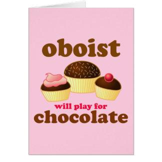 Funny Chocolate Oboe Card