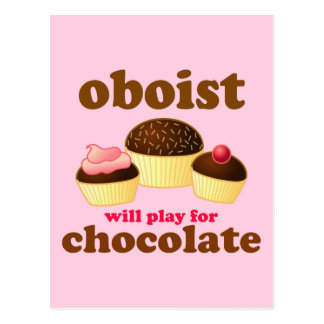 Funny Chocolate Oboe Postcard