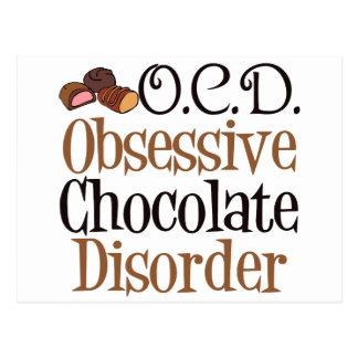 Funny Chocolate Postcard