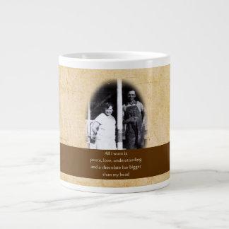 Funny Chocolate Quote Jumbo Mug
