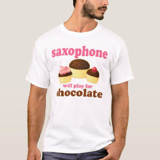 Funny Chocolate Saxophone T-Shirt
