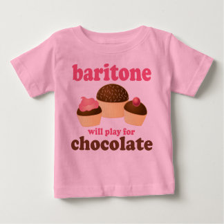 Funny Chocolate Themed Baritone Music Gift Baby T-Shirt