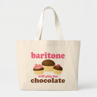 Funny Chocolate Themed Baritone Music Gift Large Tote Bag