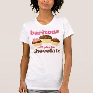 Funny Chocolate Themed Baritone Music Gift T-Shirt
