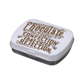 Funny Chocolate Writer Rejection Cure Candy Tin