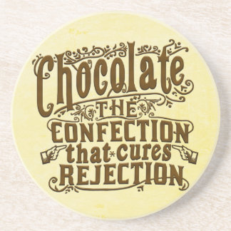 Funny Chocolate Writer Rejection Cure Drink Coaster