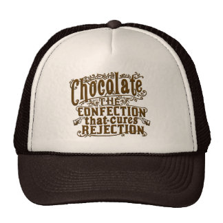 Funny Chocolate Writer Rejection Cure Trucker Hats