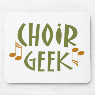Funny Choir Geek Music Gift Mouse Pad