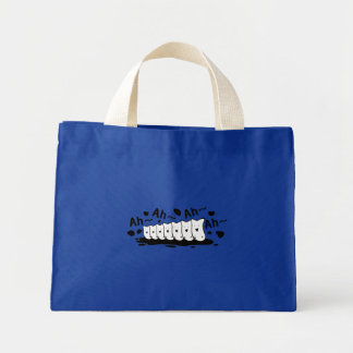 Funny choir mini tote bag