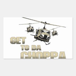 Funny Choppa Rectangular Sticker