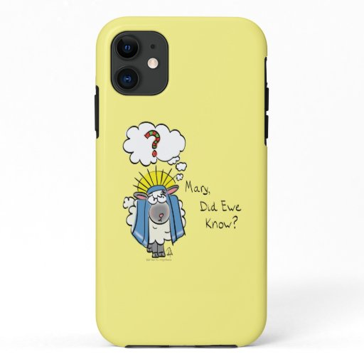 Funny Christian Christmas Cute Sheep Cartoon iPhone 11 Case
