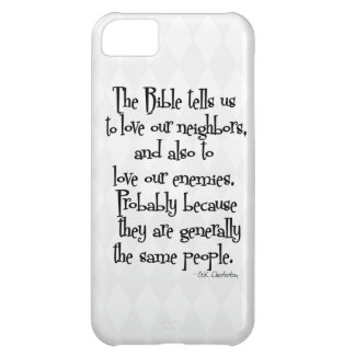 Funny Christian Religious Quote GK Chesterton iPhone 5C Cover