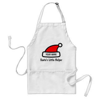 Funny Christmas apron with Santa Claus hat design