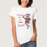 Funny Christmas Bah Humbug Santa in Drag T-shirt