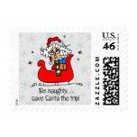 Funny Christmas Be Naughty Stamps