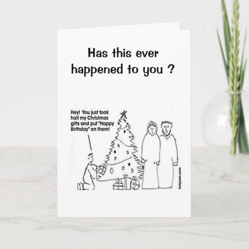 Funny Christmas Birthday Card card