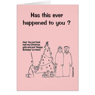 Funny Christmas Birthday Card