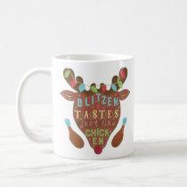 Funny Christmas Blitzen Chicken Reindeer Humor Coffee Mug